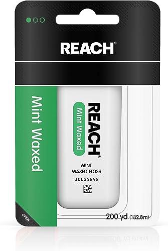 Reach Dental Floss, Waxed, Mint, 200 Yard
