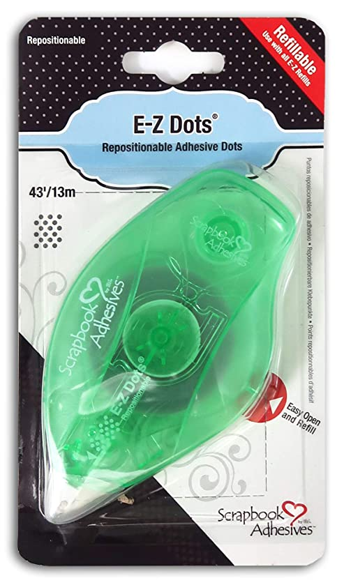 3L Scrapbook Adhesives E-Z Dots Repositionable Refillable Runner Dispenser, 43 Feet