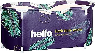 BUOODIUY Bañera Plegable Grande Portátil Bañera Doble Ducha, Baño Interior Adulto SPA Niños Piscina Ambiental