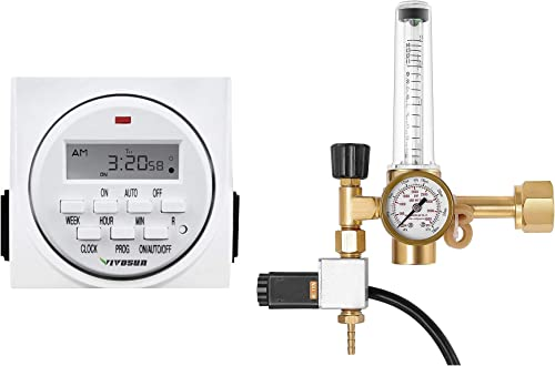 new arrival VIVOSUN Hydroponics CO2 Regulator and 7 Day Programmable Digital Timer Switch with online 2 new arrival Outlets online sale