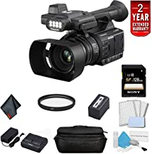 Panasonic AG-AC30 Full HD Camcorder with Touch Panel LCD Viewscreen and Built-in LED Light (US Version) Bundle with 2 Year Extended Warranty, Sony 128GB SDXC Memory Card, UV Filter + More