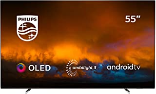 Philips 55OLED804/12 Televisor Smart TV OLED 4K UHD, 55 pulgadas (Android TV, Ambilight 3 lados, HDR10+, Dolby Vision, P5 Perfect Picture Engine, Google Assistant, Compatible con Alexa)