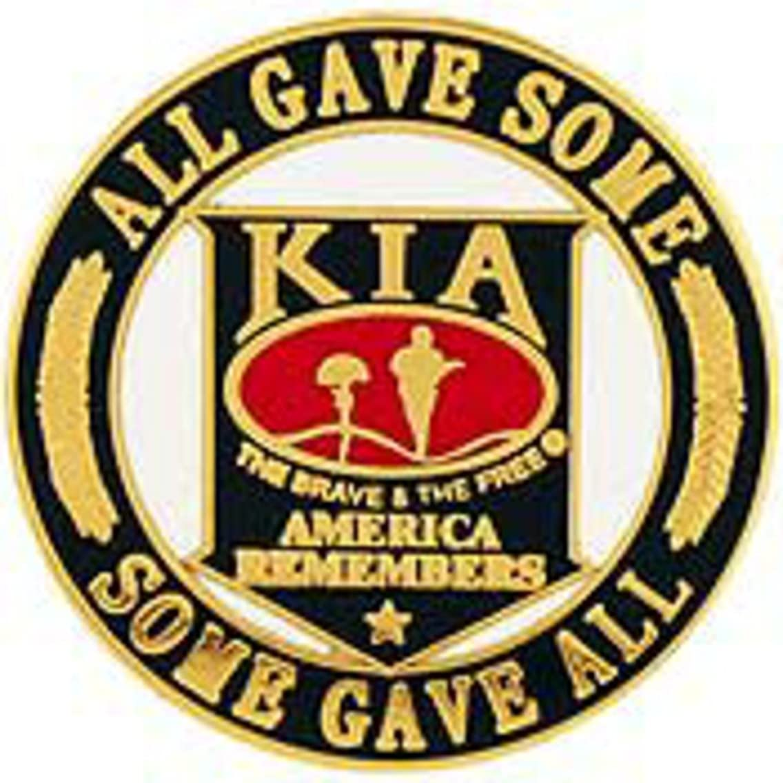 EE, Inc. KIA America Remembers Pin Military Collectibles for Men Women, Small