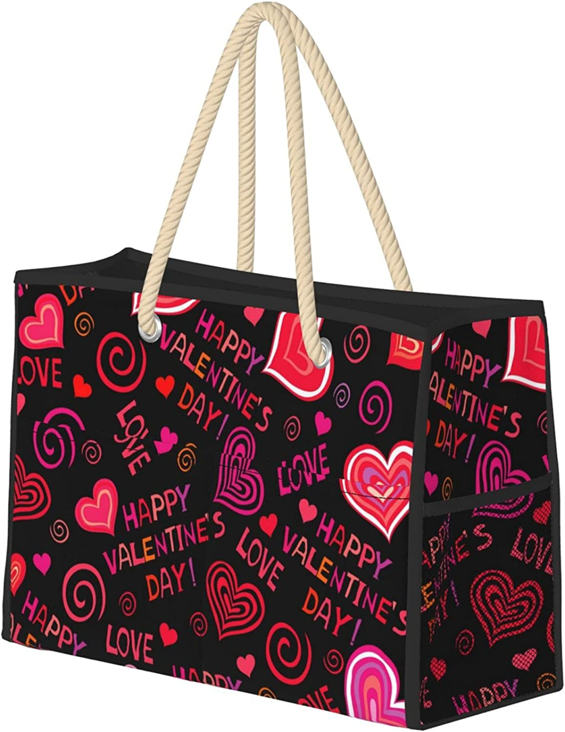 Valentines Day Women Beach Bag Utility Tote Travel Today's OFFicial only Reusable