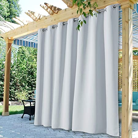 Indoor//Outdoor Single Panel Print Window Curtain Aztec,Mayan Ornate Lines Colorful,W72 xL84 Outdoor Curtain Waterproof Rustproof Grommet Drape