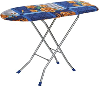 """Flipzon Wooden Self Standing 18"""" Unique Folding Ironing Board with Iron Stand - (Color May Vary, Multi-Color) - (Make in I..."""