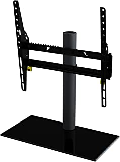 AVF Universal Table Top TV Stand / TV Base - Adjustable Tilt and Turn - Fits Most 37 to 55-Inch TVs - Black