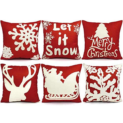 Outdoor Christmas Pillows Amazon Com