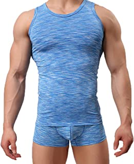Mens Sexy Sleeveless Absorbent Breathable Backing Summer Comfortable Vest