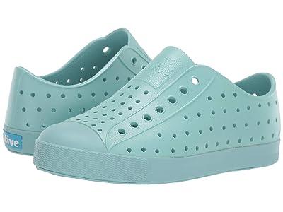Native Kids Shoes Jefferson Metallic (Little Kid) (Cardigan Metallic/Cardigan Blue) Girls Shoes
