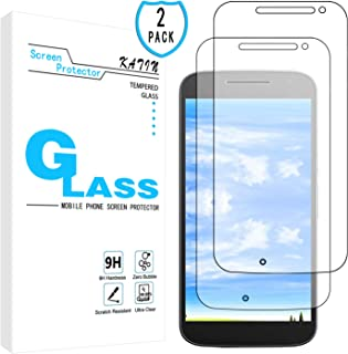 KATIN Moto G4 Screen Protector - [2-Pack] Tempered Glass for Motorola Moto G 4th Generation 5.5 inch 9H Hardness with Lifetime Replacement Warranty