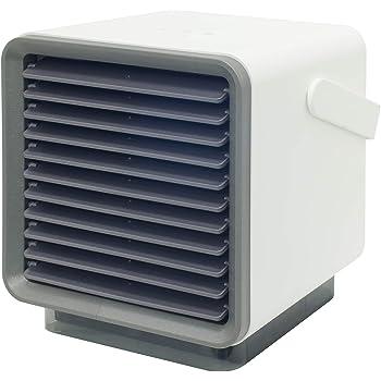 [山善] ミニ冷風扇 卓上用 小型扇風機 (タンク容量 300ml) (最大連続運転 5時間) (風量調節3段階) ホワイト FMR-40 [メーカー保証1年]
