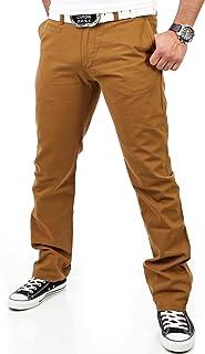 Reslad Chino Hose Herren, schwarz Top Qualität | Moderne Stoffhose, Baumwollhose für Männer | Leichte Sommer-Hose, Freizeithose Regular fit für Herren und Jungen