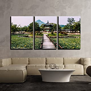 wall26 - 3 Piece Canvas Wall Art - Emperor Kyoungbok Palace at Seoul, South Korea - Modern Home Decor Stretched and Framed Ready to Hang - 16