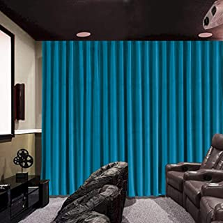 cololeaf Home Velvet Bedroom Curtains Soft Window Covering Drapes for Home Theater Studio, Flat Hooks Curtain for Traverse Rod or Track - Blue 120W x 102L inch (1 Panel)
