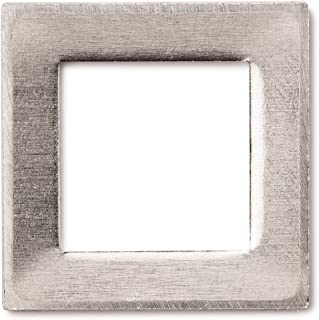 RMP Stamping Blanks, 1 Inch Square Washer with 5/8 Inch Center, Aluminum 0.063 Inch (14 Ga.) - 50 Pack