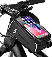 Black Voberry Bike Accessories Bike Bag 3 in 1 Bicycle Front Frame Tube Handlebar Bag Bike Storage Bag Cycling Double Pouch Phone Bag Mountain Bike Rack Bag Travel Bike Front Bag Road Bike Bag
