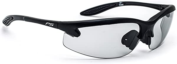 Safety Glasses with Transitions Lenses in Pewter Wraparound Frame