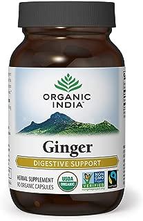 ORGANIC INDIA Ginger Supplement, 90 Veg Capsules