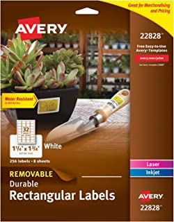 Avery Removable Labels for Laser & Inkjet Printers, 1.25