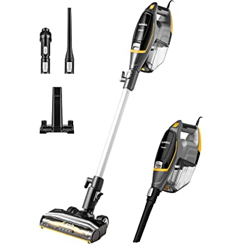 Eureka Flash Lightweight Stick Vacuum Cleaner,15KPa Powerful Suction, 2 in 1 Corded Handheld Vac for Hard Floor and Carpet, Black, NES510