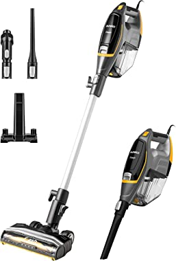 Eureka Flash Lightweight Stick Vacuum Cleaner, 15KPa Powerful Suction, 2 in 1 Corded Handheld Vac for Hard Floor and Carpet,