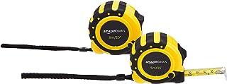 Amazon Basics Lot de 2mètres rubans Mécanisme à 3crans de blocage Système de mesure Précision conforme aux exigences de ...