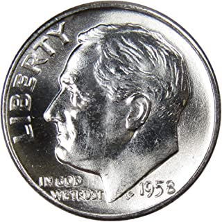 1958 D 10c Roosevelt Silver Dime US Coin Uncirculated Mint State