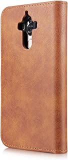 Protect Huawei Mate 9 Wallet Phone case Fashion Classic Flip Leather Phone Phone case Cover for Fashion (Color : Brown)