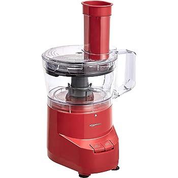 AmazonBasics 4-Cup Food Processor, Red
