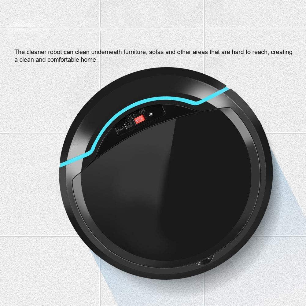 Black para Pelo de Mascota de Suelo Duro Aspirador Inteligente Hoseten Aspirador Robot Aspirador