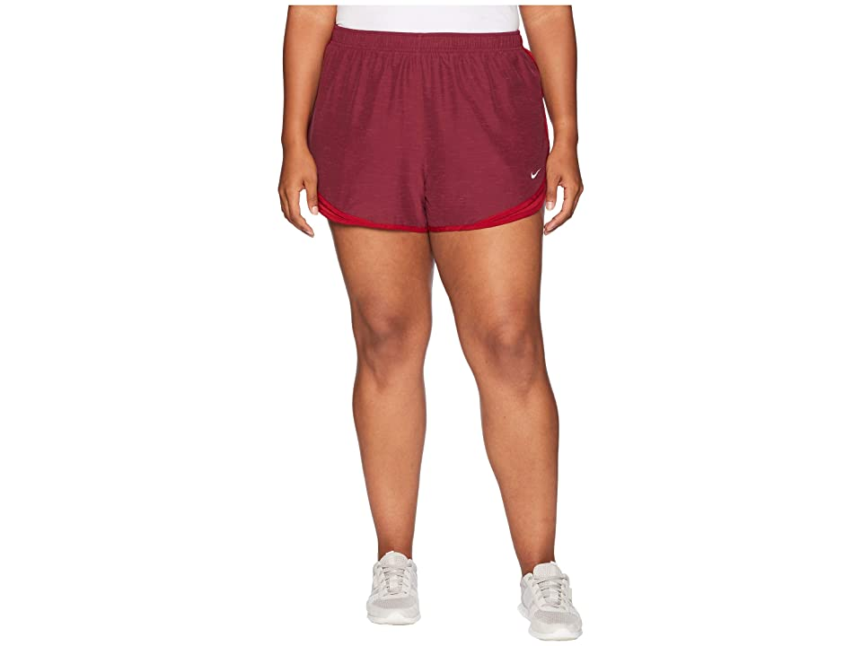 Nike Dry Tempo 3 Running Short (Size 1X-3X) (Red Crush/Red Crush/Red Crush/Wolf Grey) Women