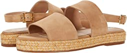 Oahu Suede Sandal with Yute-Wrapped Flatform