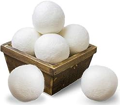 SnugPad Wool Dryer Balls XL Size 6 Pack, Natural Fabric Softener 100% Organic Premium New..