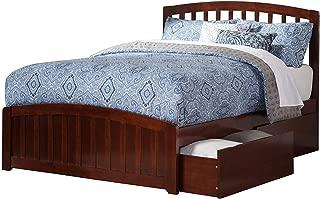 Atlantic Furniture Richmond Platform Matching Foot Board and 2 Urban Bed Drawers, Queen, Walnut