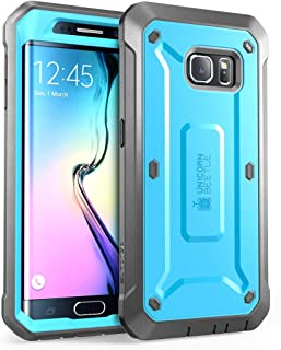 SupCase [Unicorn Beetle Pro Series Case for Galaxy S6 Edge (2015 Release), Full-Body Rugged Hybrid Protective Cover with-Out Screen Protector (Blue)