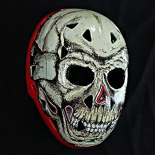 tripple_777 1:1 Custom Vintage Fiberglass Roller Ice Hockey Goalie Mask Helmet Gary Bromley Skelator HO34
