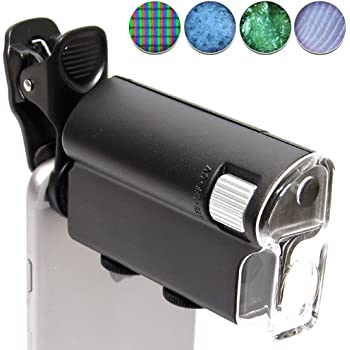 GoodsLand 【 LED 搭載 】 スマホ用 マイクロスコープ カメラ クリップ iPhone アイフォン Android 60倍 ~ 100倍 GD-SMASCO