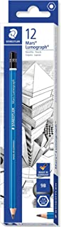 Staedtler Mars Lumograph 100-9B Premium Quality Pencil, Hardness 9B, Box of 12