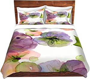Dia Noche Designs Microfiber Duvet Covers Dawn Derman - Pansy Fall