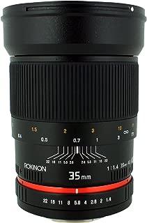 Rokinon Wide Angle 35mm f/1.4 Lens for Canon Cameras