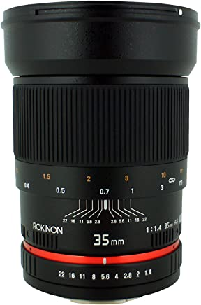Rokinon 35mm F/1.4 AS UMC Wide Angle Lens for Nikon with Automatic Chip RK35MAF-N - Fixed