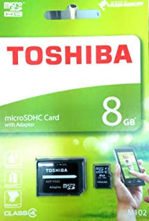 Toshiba 8 GB Memory Card For Mobile Phones - Micro SD Card - M102