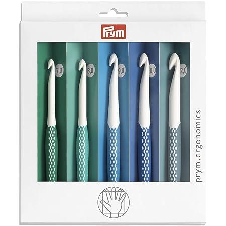 Prym 218441-1 Crochet ergonomique pour laine 7,00-12,00 mm x 1 lot Blanc 12 mm
