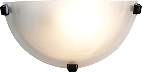 popular Access Lighting 20417LEDDLP-ORB/ALB online sale Mona LED Wall Sconce with popular Alabaster Glass Diffuser, Oil Rubbed Bronze outlet online sale