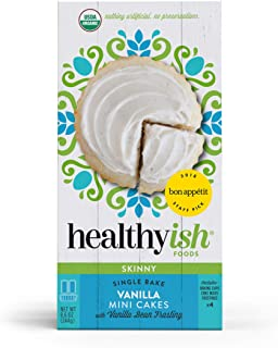 Healthyish, Organic Skinny Vanilla Cake Mix with Vanilla Bean Frosting- Makes 4 Mini Cakes