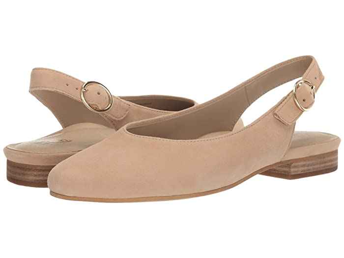 Earth  Uptown Ursula (Ecru Silky Suede) Womens Flat Shoes