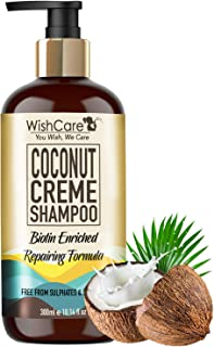 WishCare® Coconut Crème Shampoo - Repairing Formula - Free from Mineral Oils, Sulphates & Parabens - 300 Ml (Enriched with...