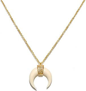 Benevolence LA Gold Necklaces for Women - Celebrity Endorsed Gold Necklaces for Women Pendant Tassel Gemstone Necklace Chain Fashion Jewelry for Girls Teens Women Everyday Look