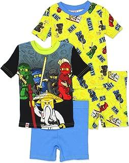 Ninjago Boy's 4 Piece Cotton Pajamas Set (Little Kid/Big Kid)